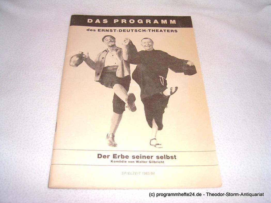 Der Erbe seiner Selbst. Das Programmheft des Ernst-Deutsch-Theaters. Spielzeit 1