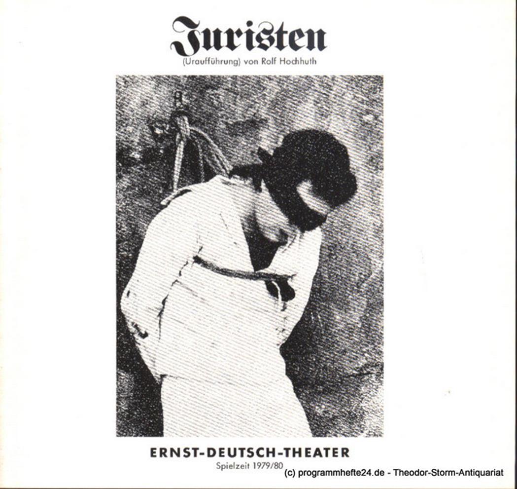 Programmheft Juristen. Uraufführung. Von Rolf Hochhuth. Spielzeit 1979/80 Heft 7