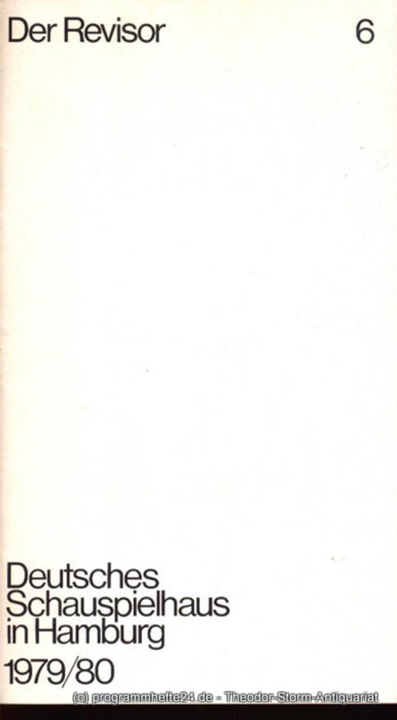Programmheft zu Der Revisor von Nikolaj Gogol. Herausgegeben am 24. Februar 1980
