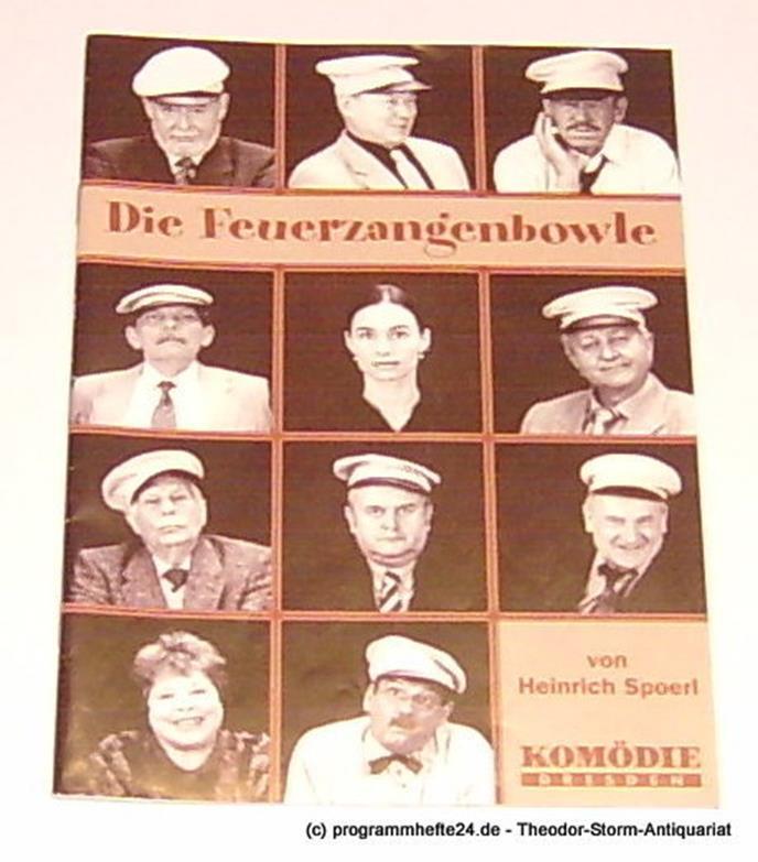 Programmheft Die Feuerzangenbowle von Heinrich Spoerl. Premiere 7. Dezember 2001