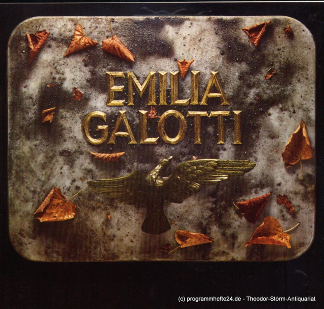 Programmheft Emilia Galotti von Gotthold Ephraim Lessing. Premiere 18. Oktober 1