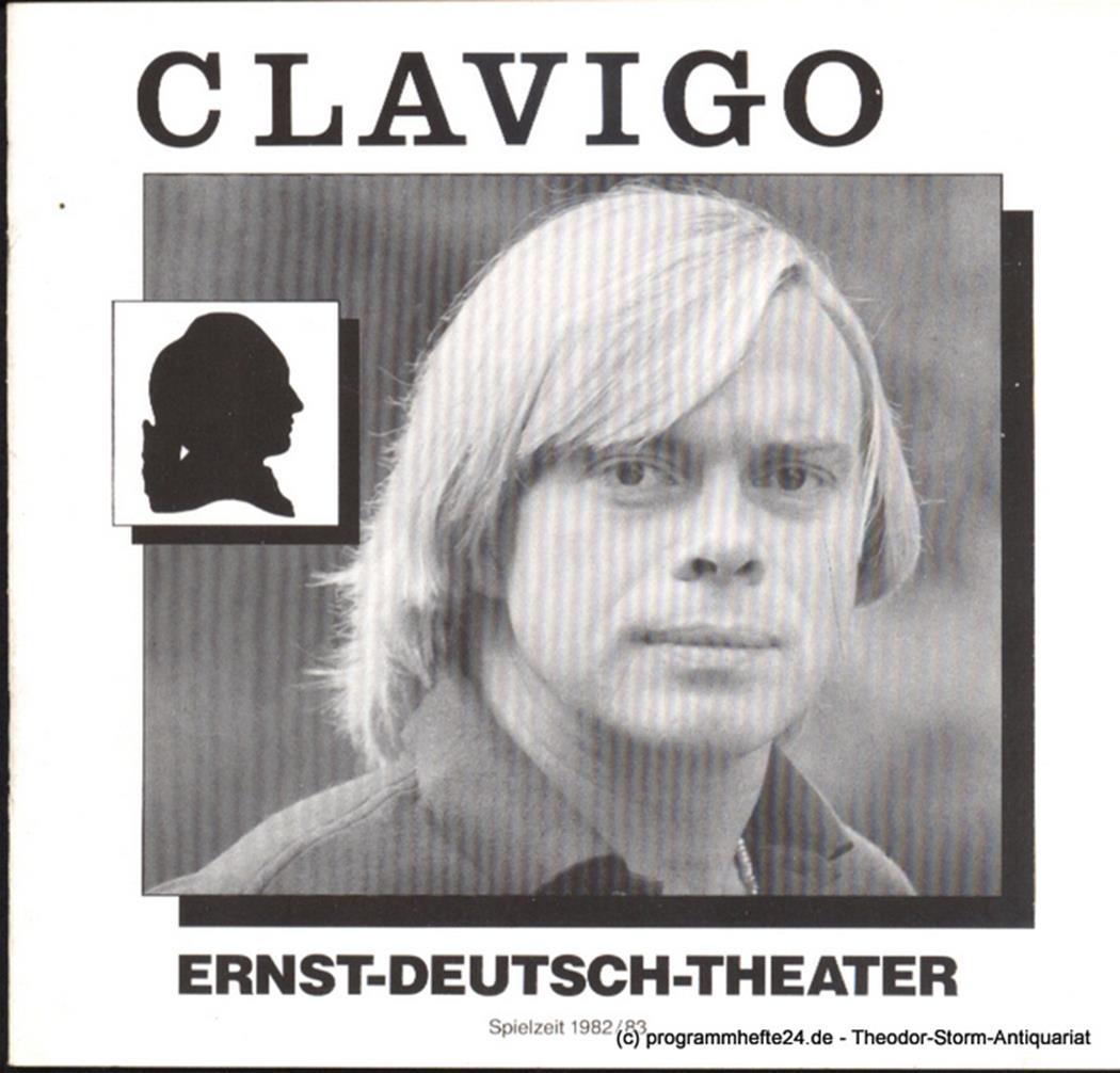 Programmheft Clavigo von Johann Wolfgang von Goethe. Premiere 14. Oktober 1982 S