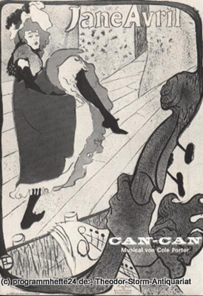 Programmheft Can Can. Musical von Abe Burrows. Kieler Theaterblätter Spielzeit 1