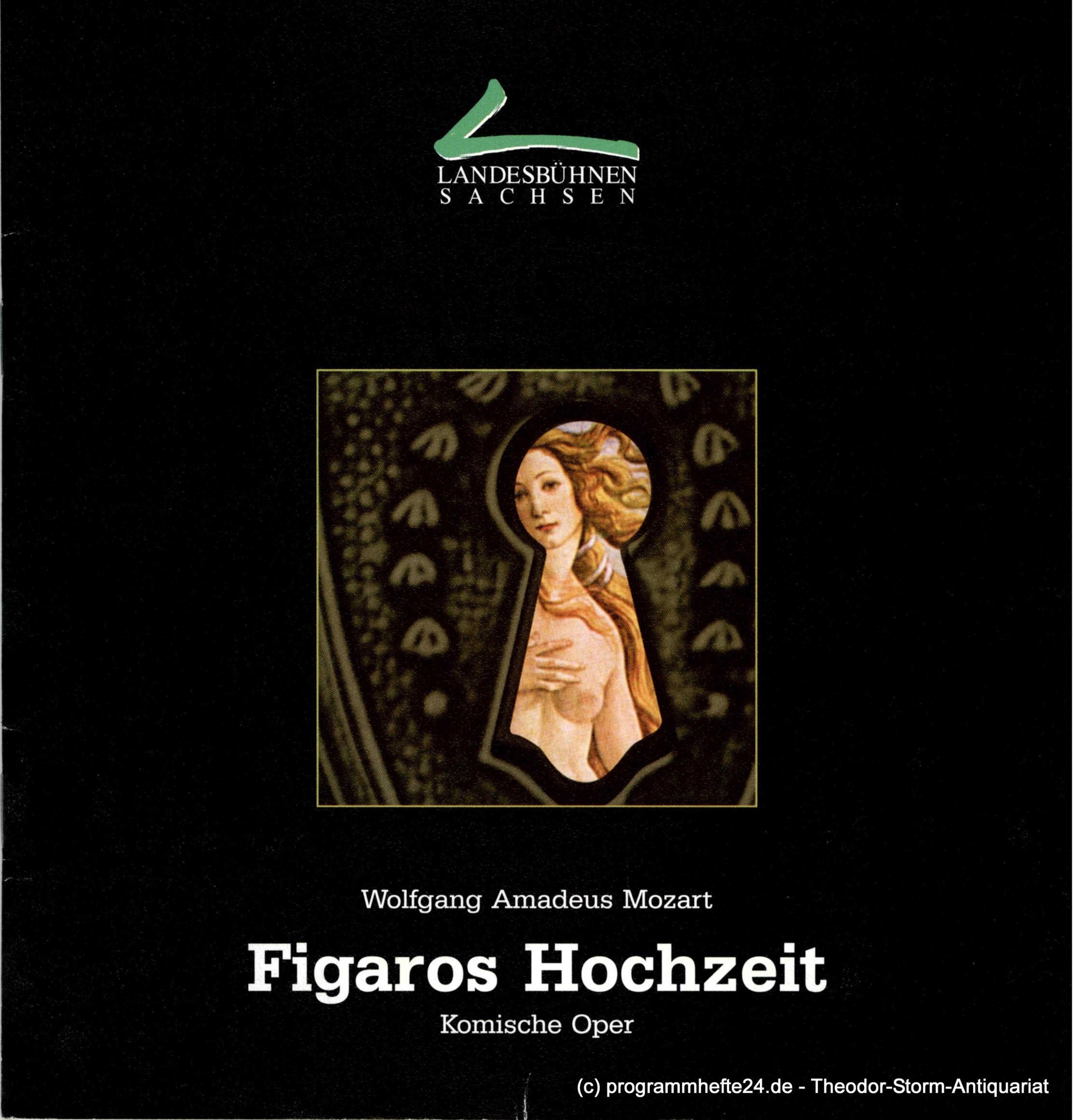 Programmheft Figaros Hochzeit. Komische Oper von Wolfgang Amadeus Mozart. Premie