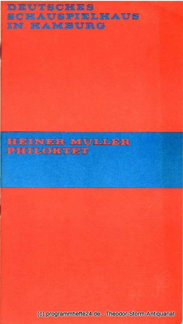 Programmheft Philoktet von Heiner Müller. Premiere 27. März 1970 Spielzeit 1969
