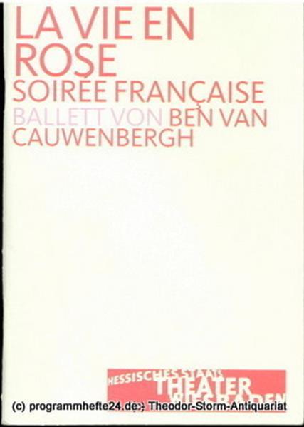 Programmheft zu La vie en Rose - Soiree Francaise. Premiere 8. Februar 2003 Hess