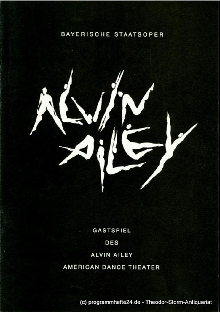 Programmheft zum Gastspiel des Alvin Ailey American Dance Theater im Nationalthe