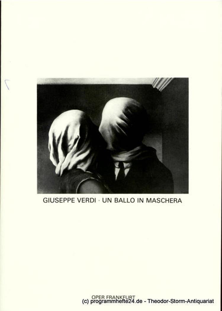 Programmheft Giuseppe Verdi: Un ballo in maschera. Premiere 2. Oktober 1982. Spi