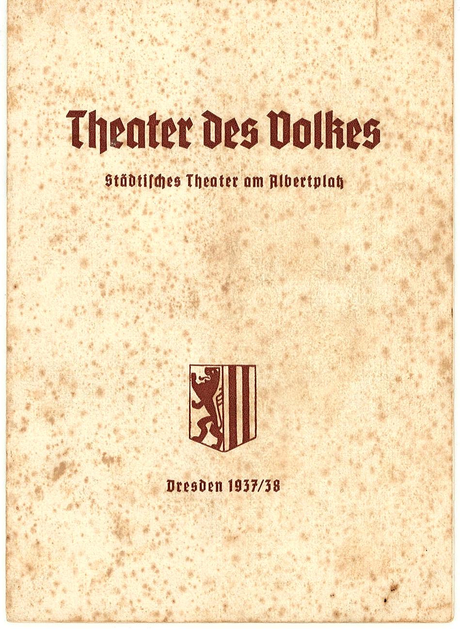 Programmheft Land des Lächelns. Theater am Albertplatz, Dresden 1937
