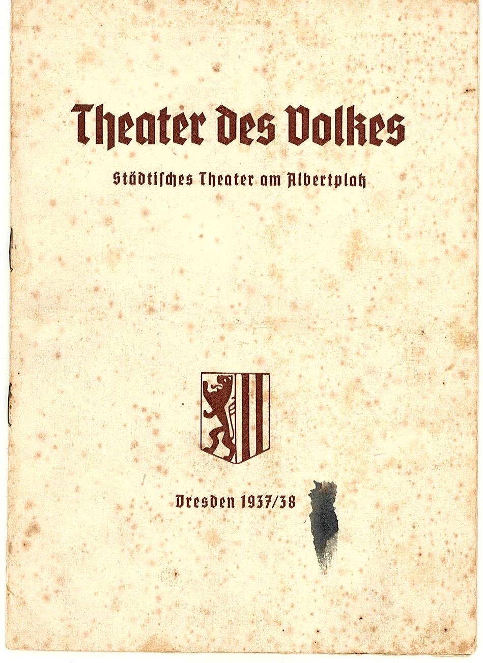 Programmheft Der lustige Krieg. Theater am Albertplatz, Dresden 1937