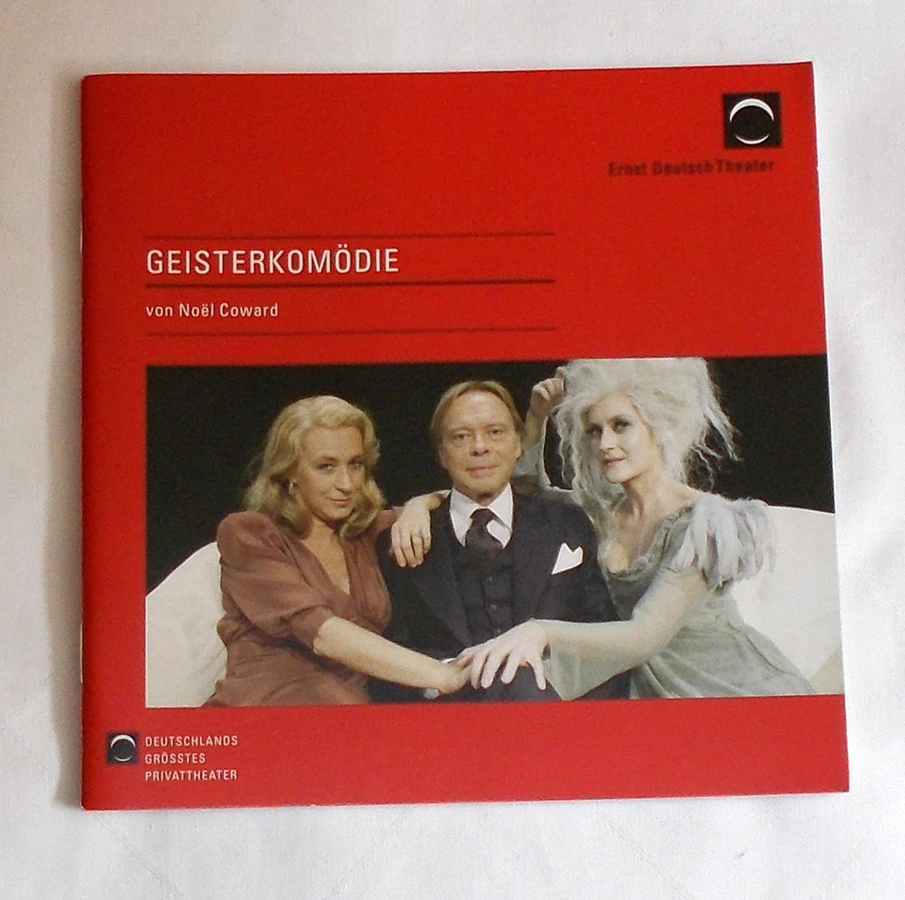Programmheft GEISTERKOMÖDIE von Noel Coward Ernst Deutsch Theater 2008