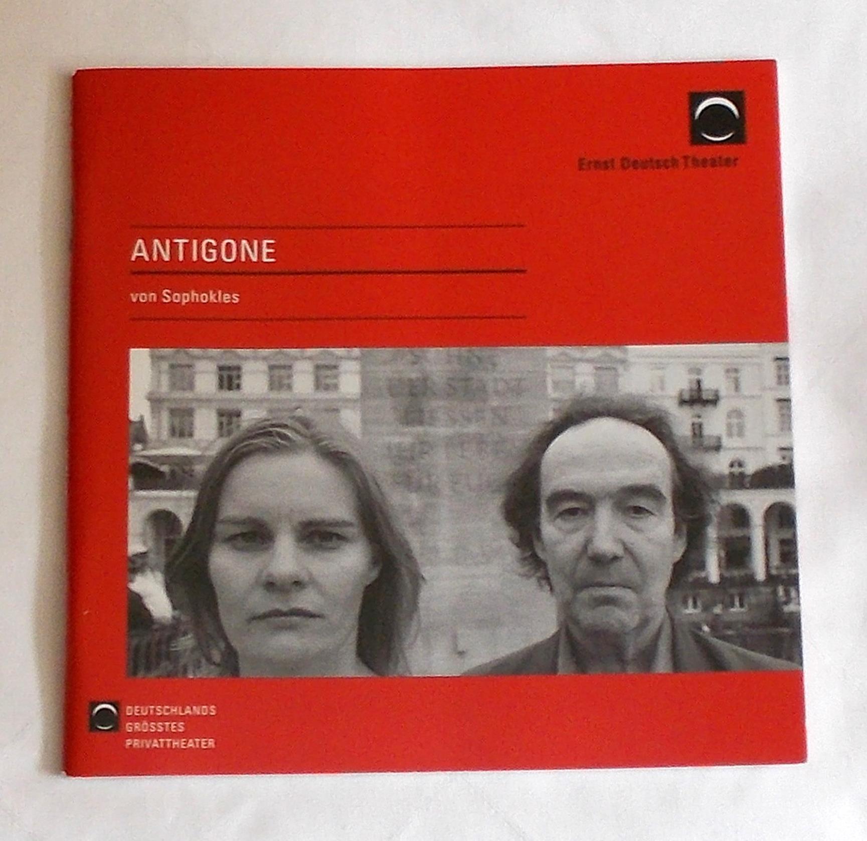 Programmheft ANTIGONE von Sophokles. Ernst Deutsch Theater 2008