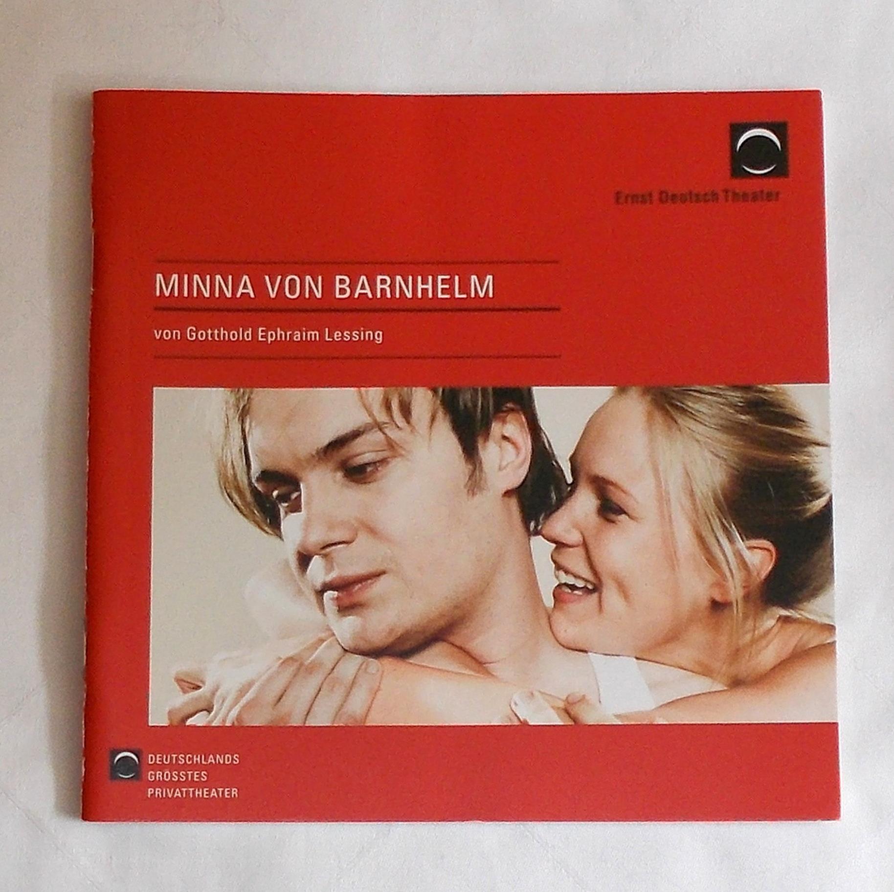 Programmheft Minna von Barnhelm Ernst Deutsch Theater 2009