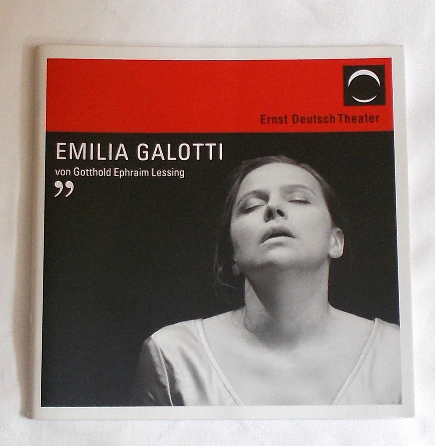 Programmheft EMILIA GALOTTI. Ernst Deutsch Theater 2008