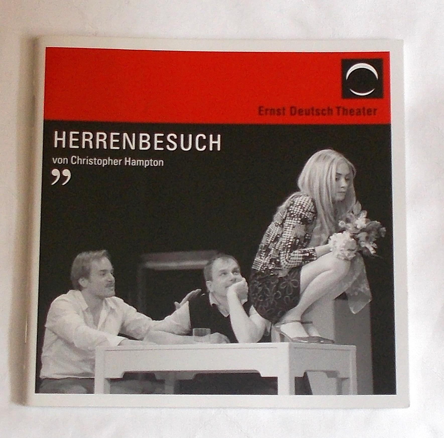Programmheft HERRENBESUCH von Christoph Hampton. Ernst Deutsch Theater 2008