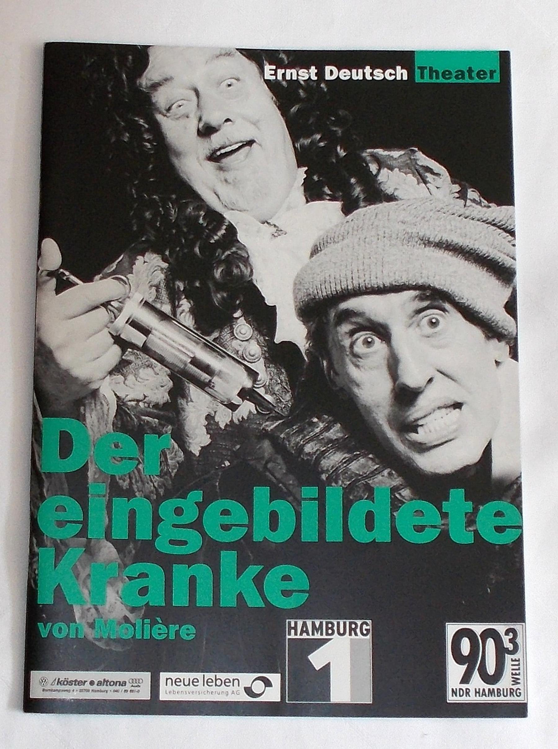 Programmheft Der eingebildete Kranke von Moliere. Ernst Deutsch Theater 2000