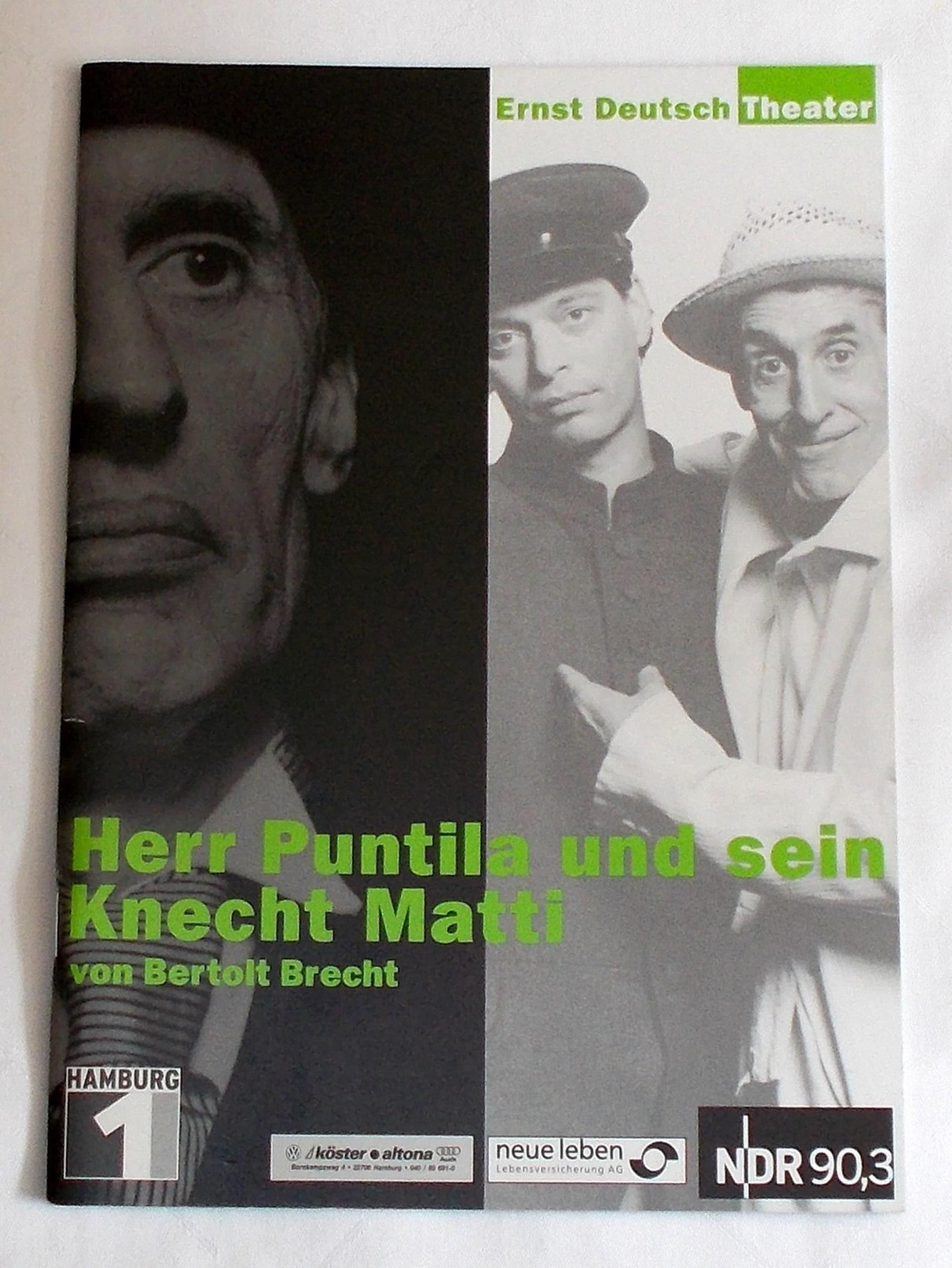 Programmheft Herr Puntila und sein Knecht Matti Ernst Deutsch Theater 2002