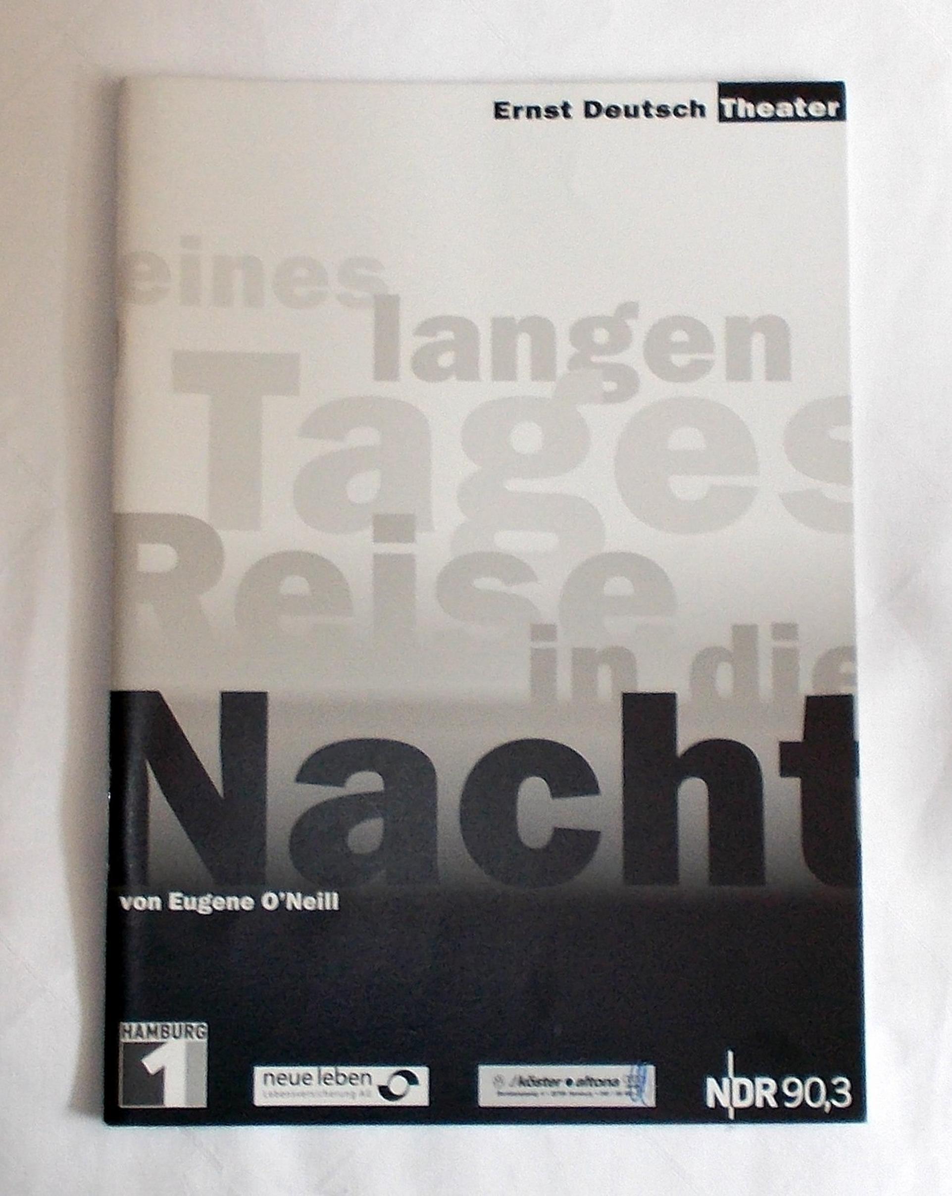 Programmheft Eines langen Tages Reise in die Nacht Ernst Deutsch Theater 2003