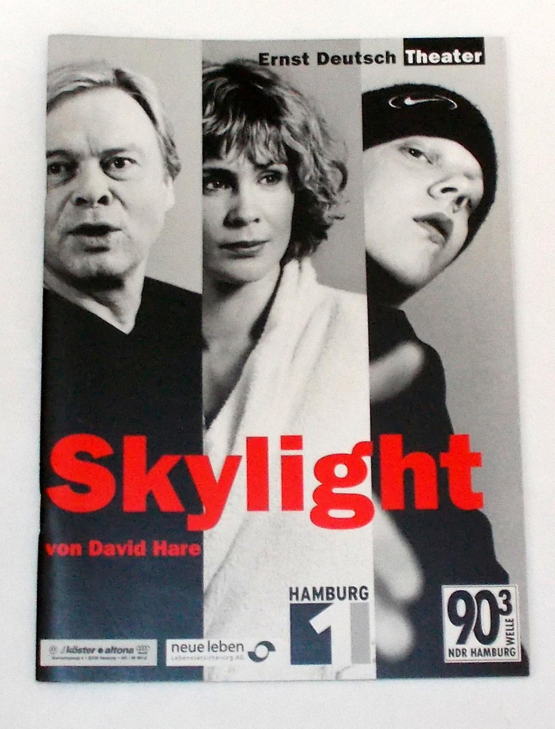 Programmheft SKYLIGHT von David Hare. Ernst Deutsch Theater 2001