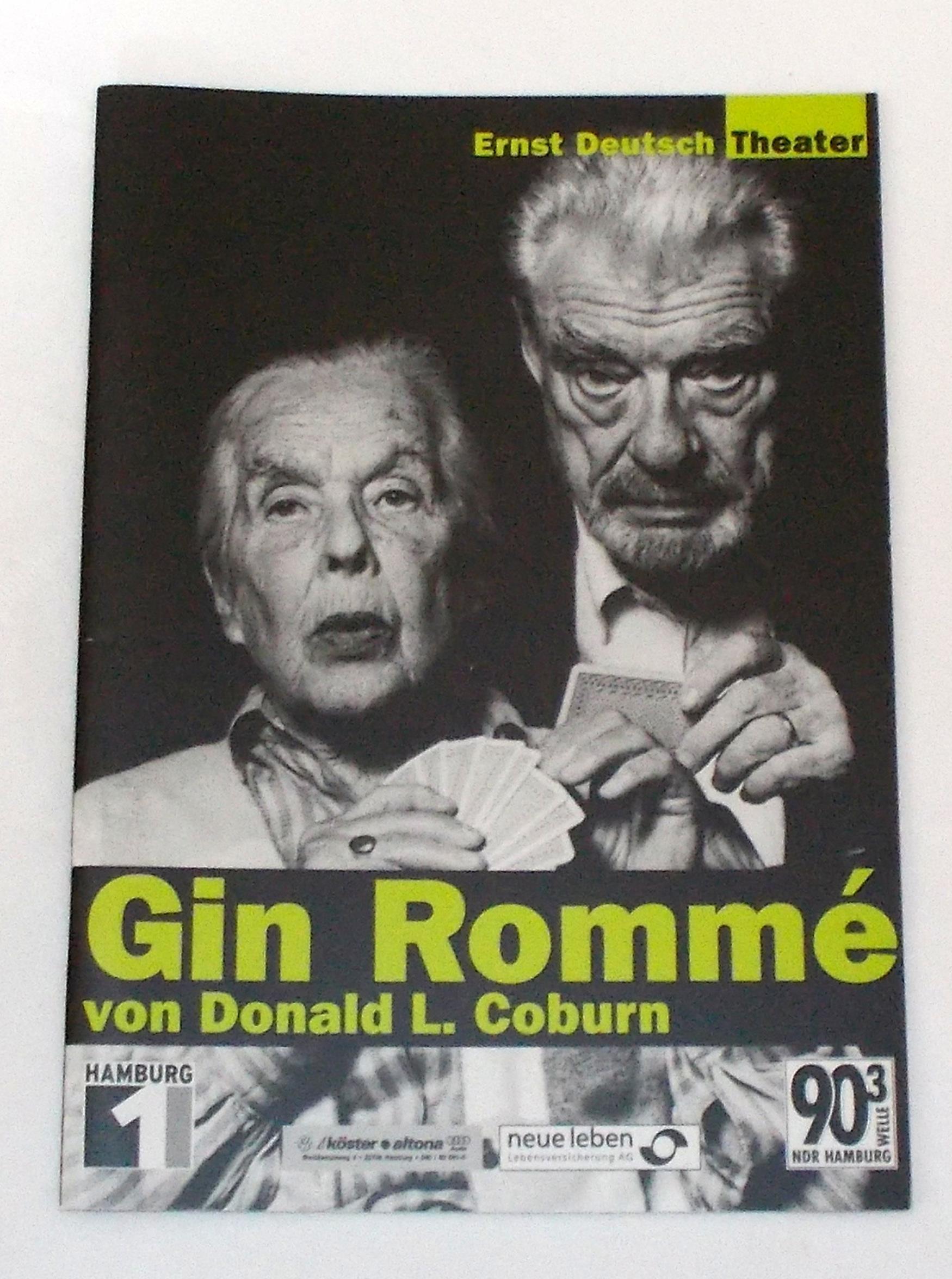 Programmheft GIN ROMME von Donald L. Coburn. Ernst Deutsch Theater 2001