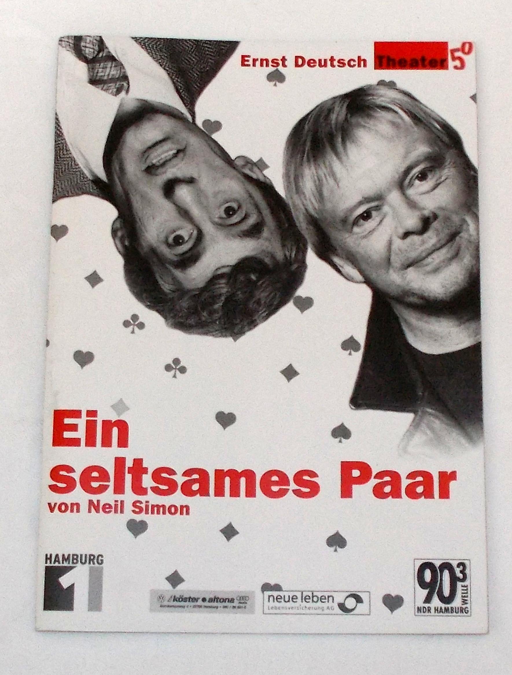 Programmheft Ein seltsames Paar von Neil Simon. Ernst Deutsch Theater 2001