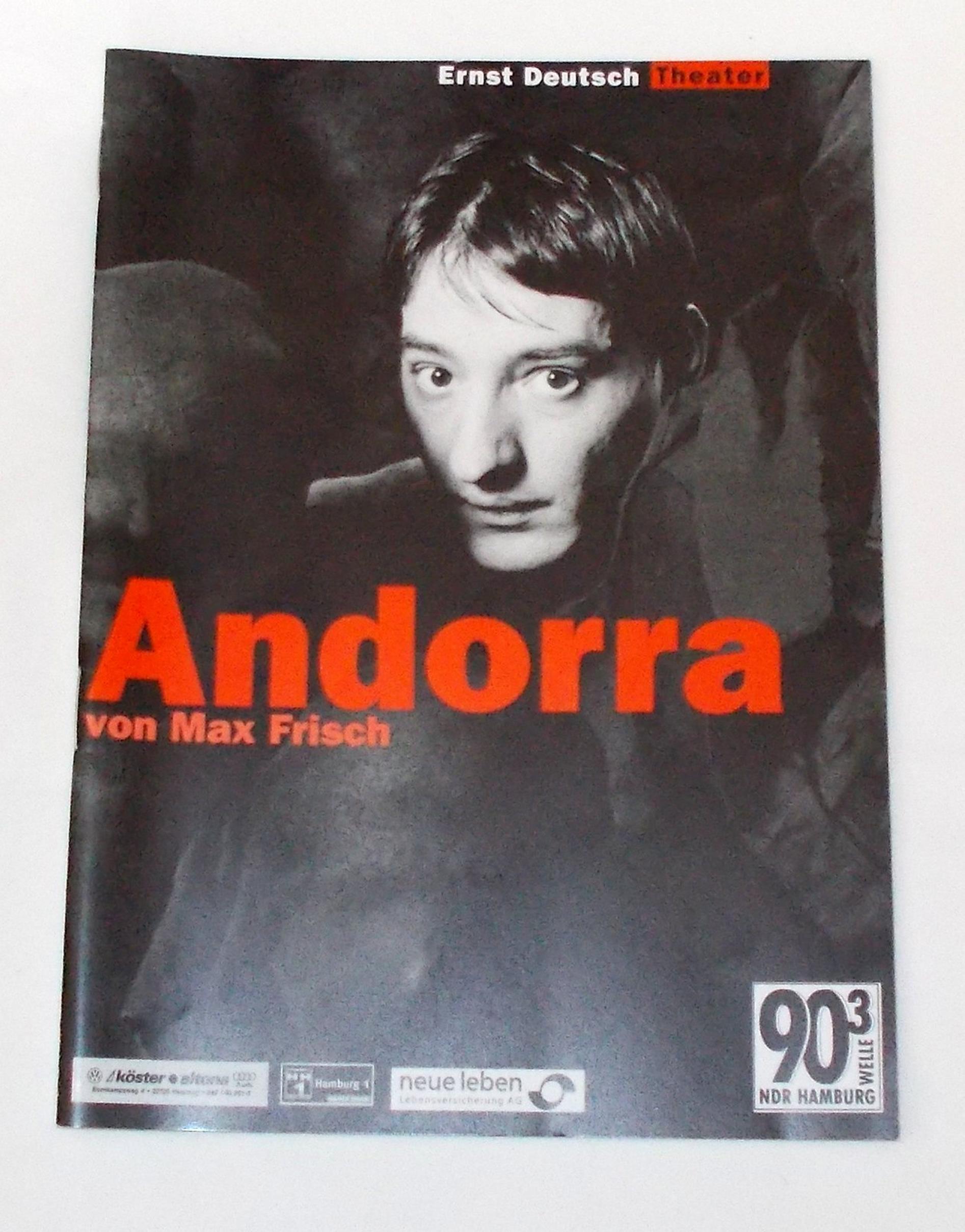Programmheft ANDORRA von Max Frisch. Ernst Deutsch Theater 2000
