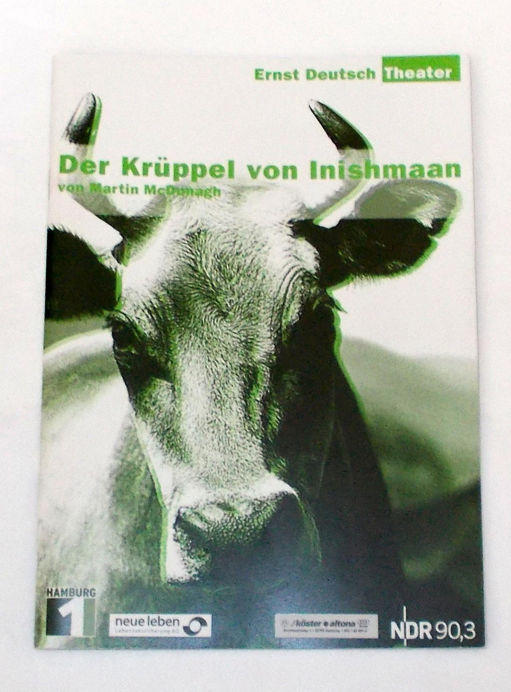 Programmheft Der Krüppel von Inishmaan. Ernst Deutsch Theater 2003