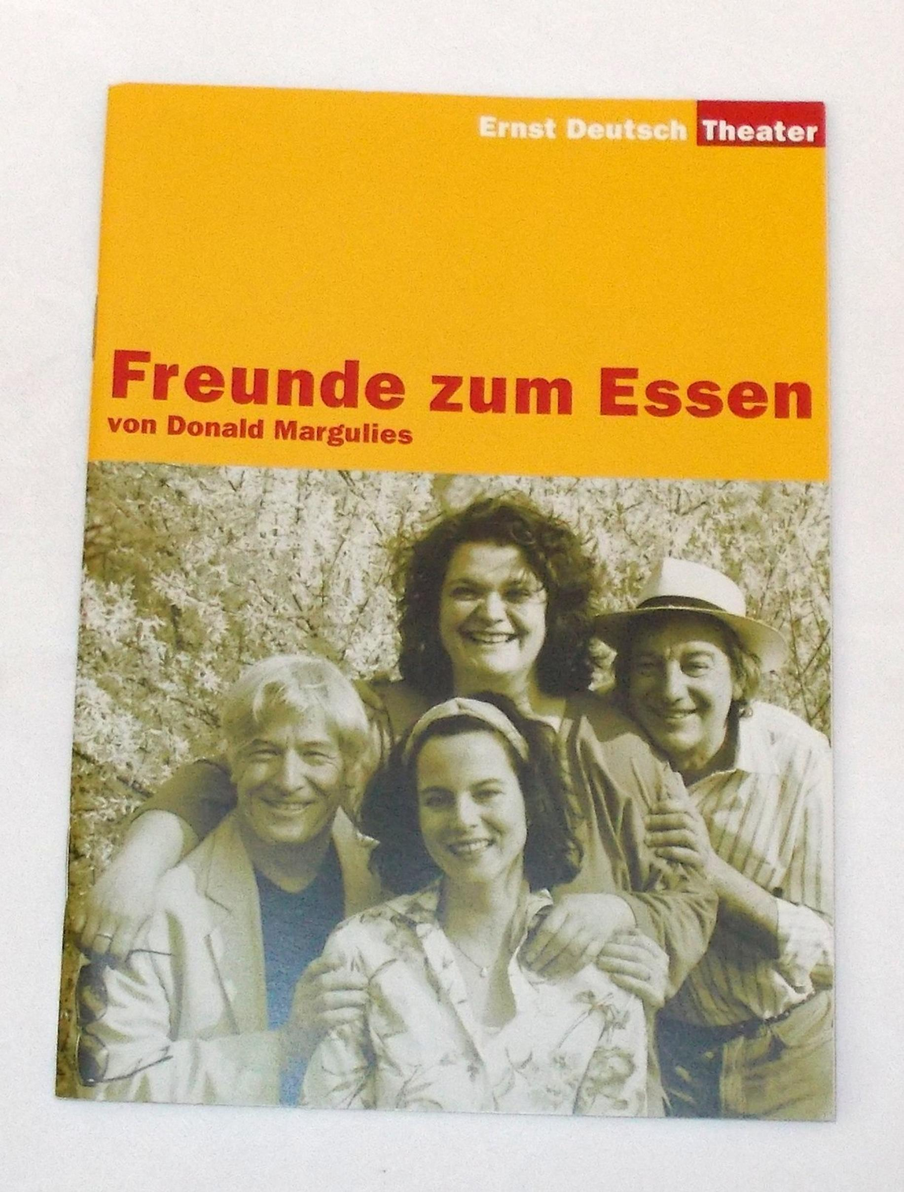 Programmheft Freunde zum Essen von Donald Margulies Ernst Deutsch Theater 2004