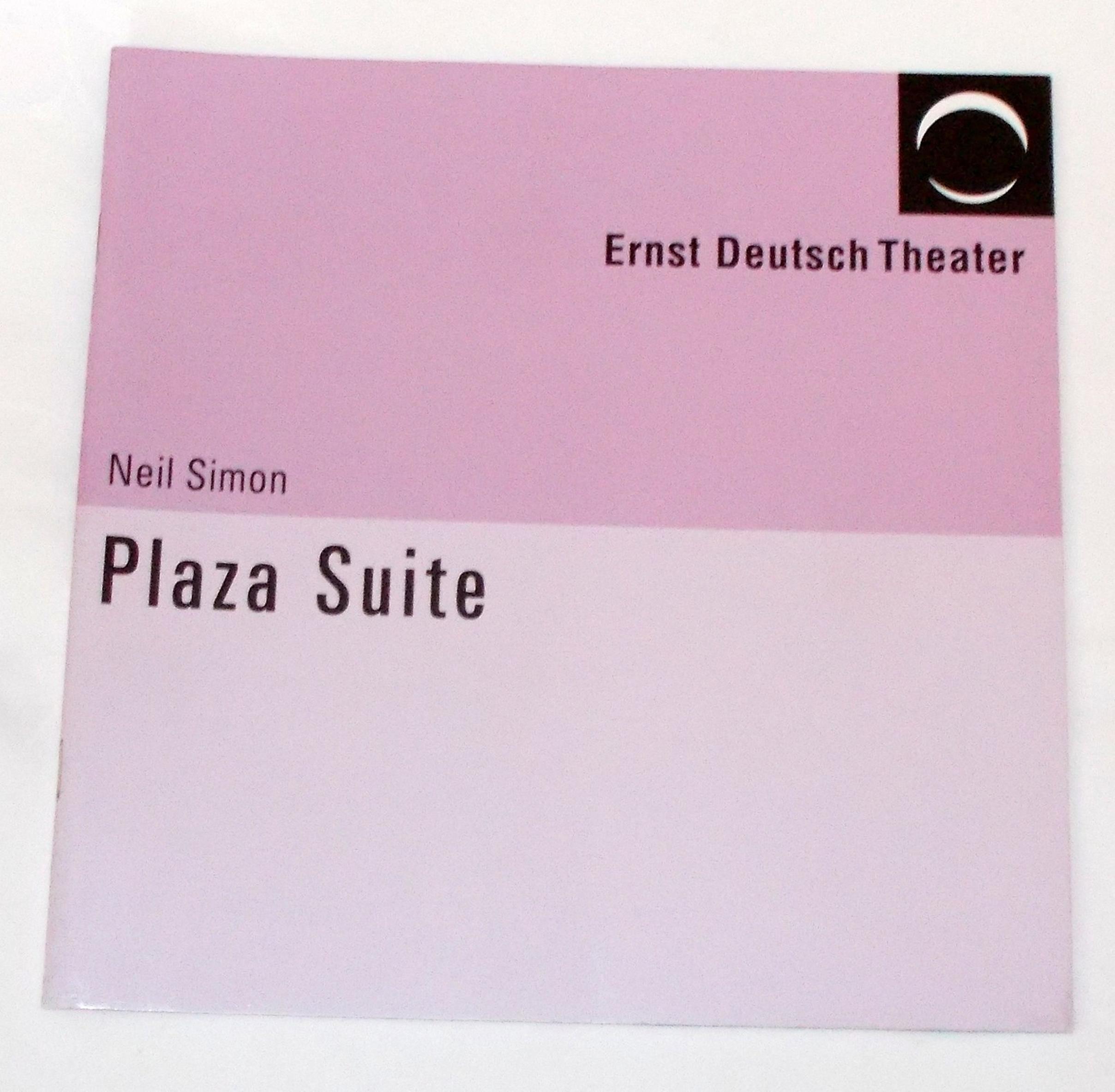 Programmheft Plaza Suite von Neil Simon. Ernst Deutsch Theater 2005