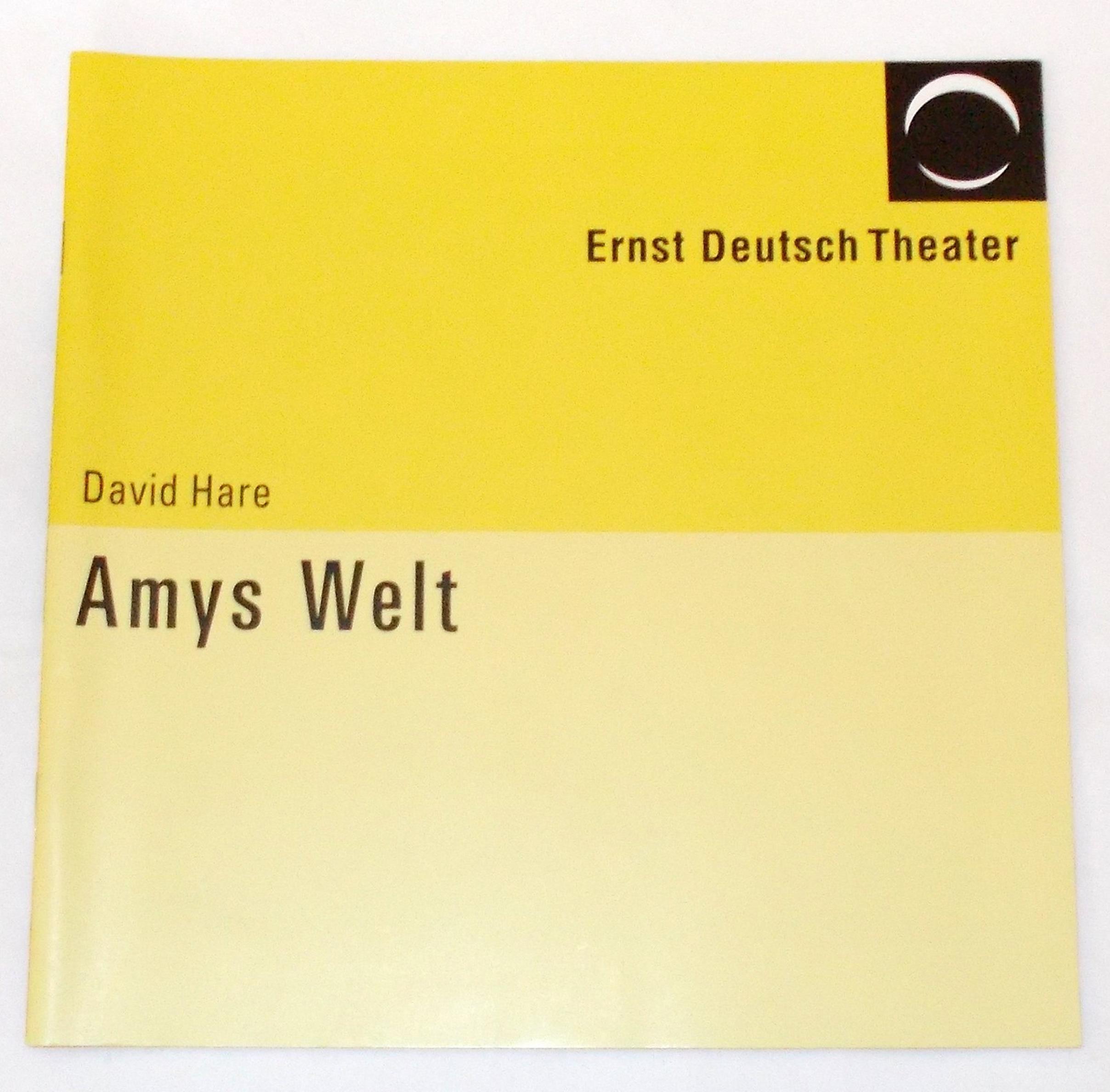 Programmheft Amys Welt von David Hare. Ernst Deutsch Theater 2005