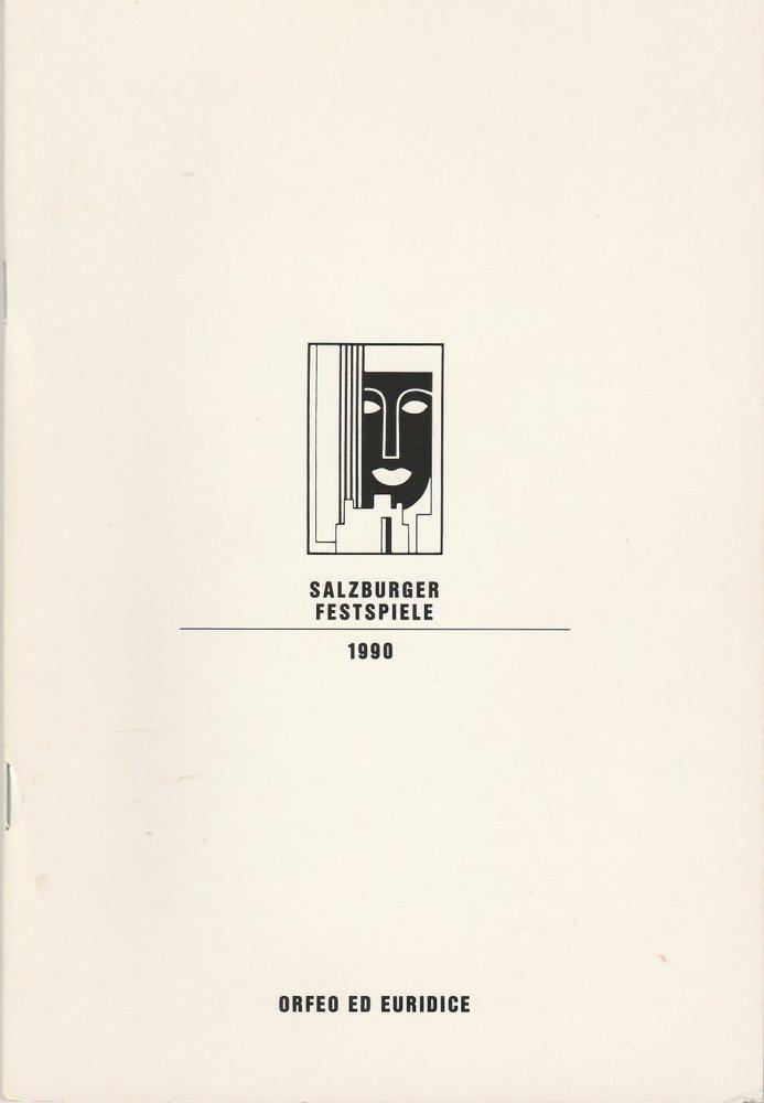 Programmheft Christoph W. Gluck ORFEO ED EURIDICE  Salzburger Festspiele 1990