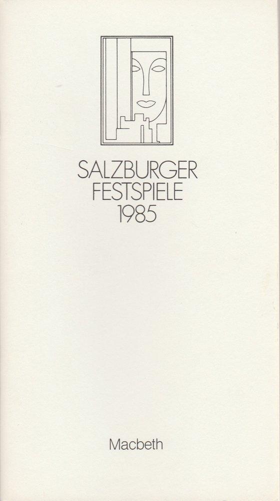 Programmheft Giuseppe Verdi MACBETH  Salzburger Festspiele 1985