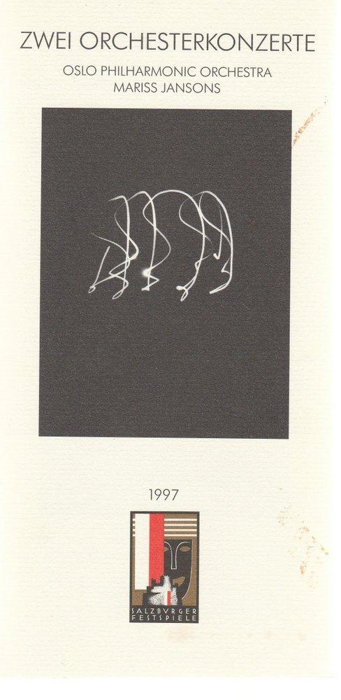 Programmheft ZWEI ORCHESTERKONZERTE MARISS JANSONS Salzburger Festspiele 1997
