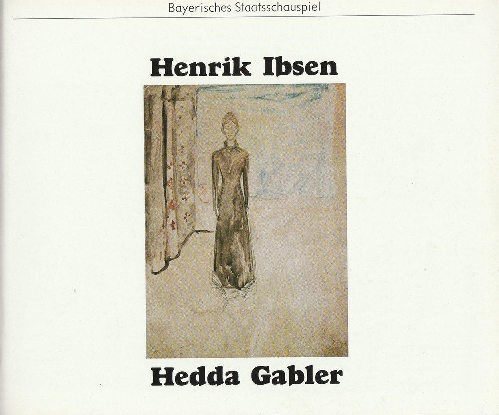 Programmheft Henrik Ibsen HEDDA GABLER Bayerisches Staatsschauspiel 1979