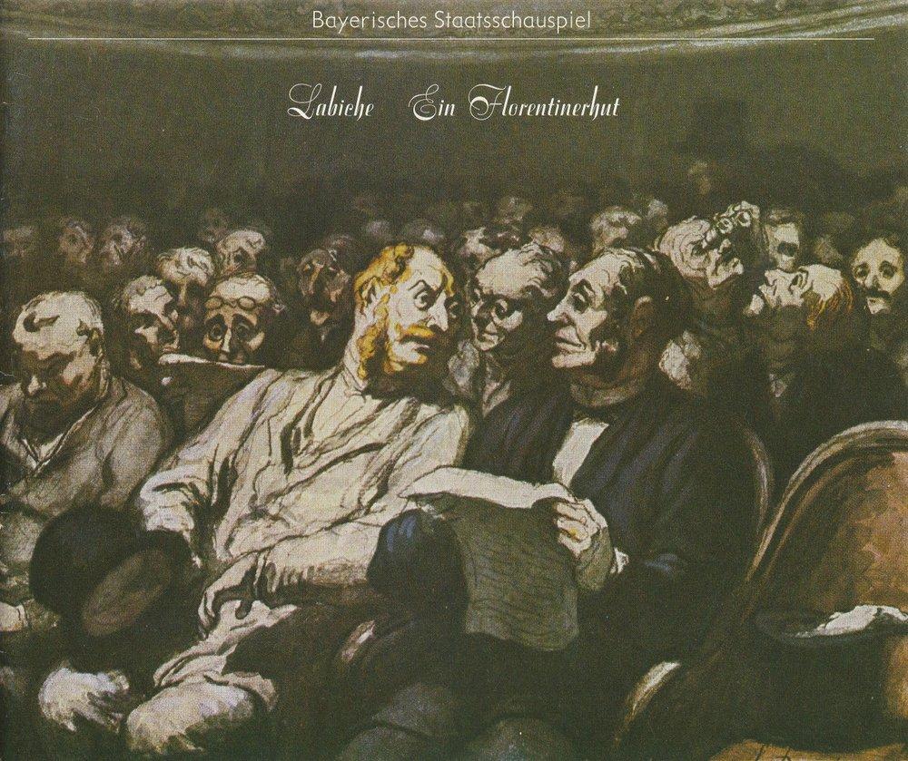 Programmheft Ein Florentinerhut Eugene Labiche Bayerisches Staatsschauspiel 1980
