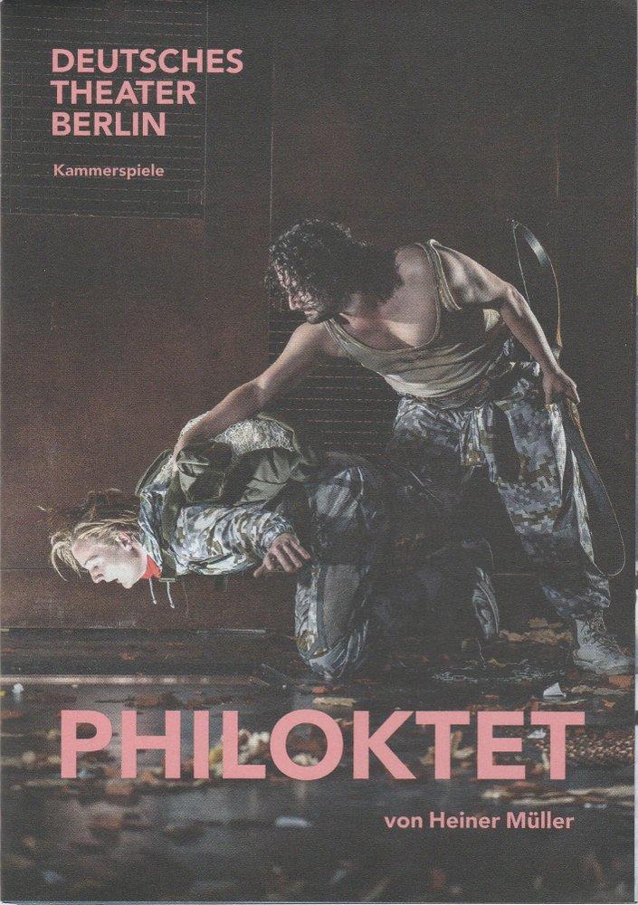 Programmheft Heiner Müller PHILOKTET Kammerspiele Berlin 2019