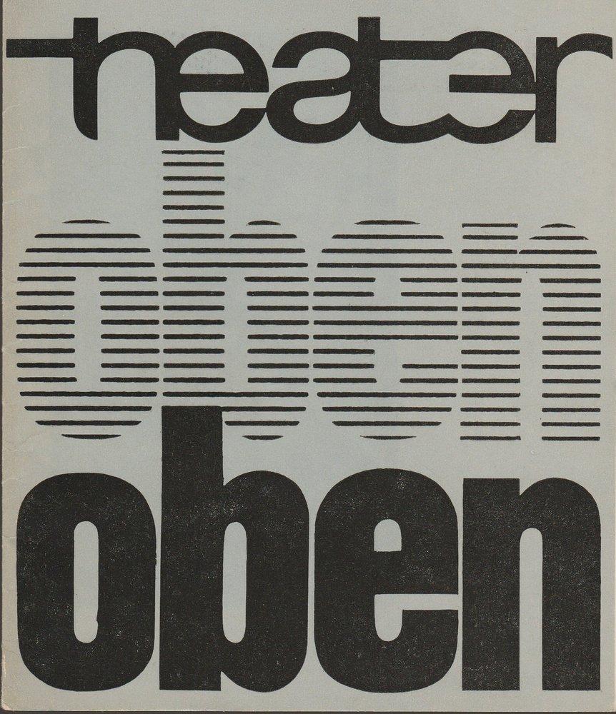 Programmheft Viktor Rosow DAS NEST DES AUERHAHNS Theater Karl-Marx-Stadt 1980