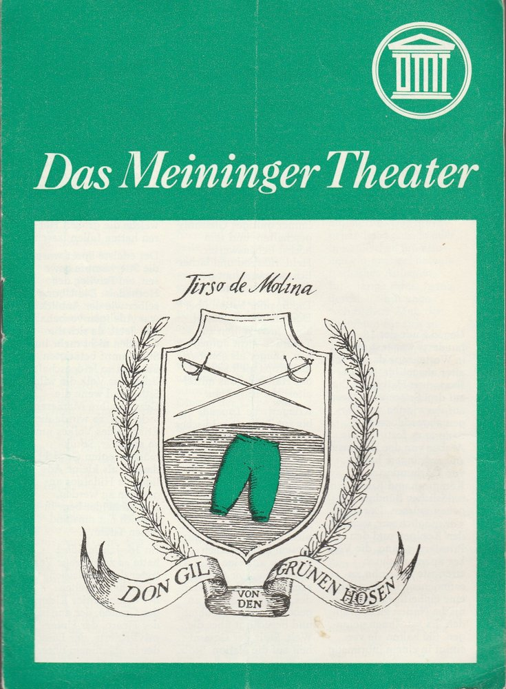 Programmheft DON GIL VON DEN GRÜNEN HOSEN Das Meininger Theater 1980