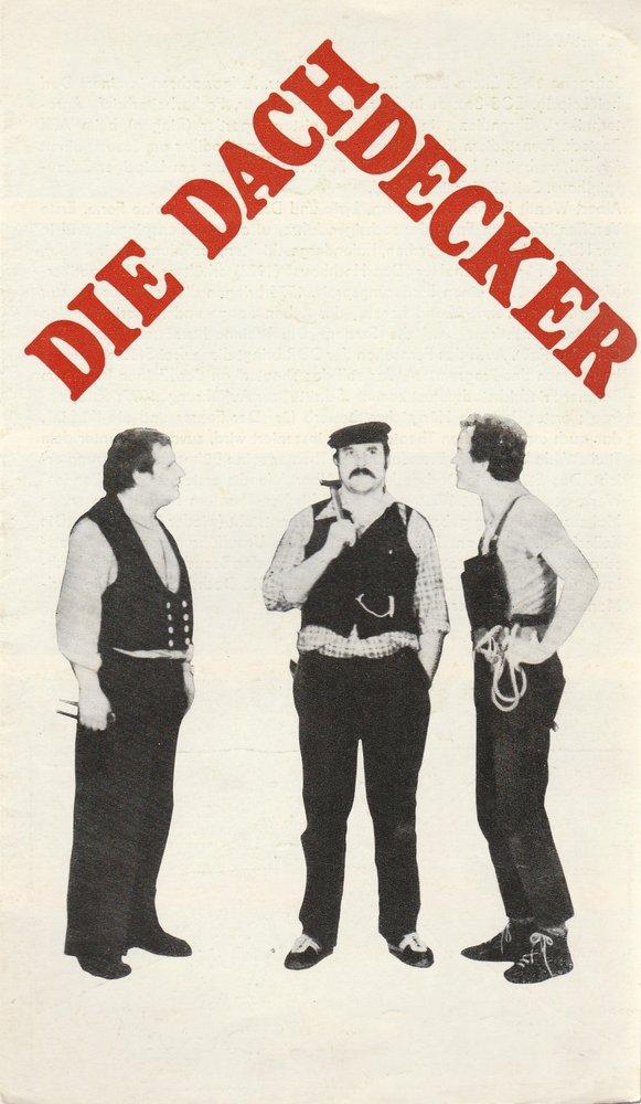 Programmheft Albert Wendt DIE DACHDECKER Theater Karl-Marx-Stadt 1980