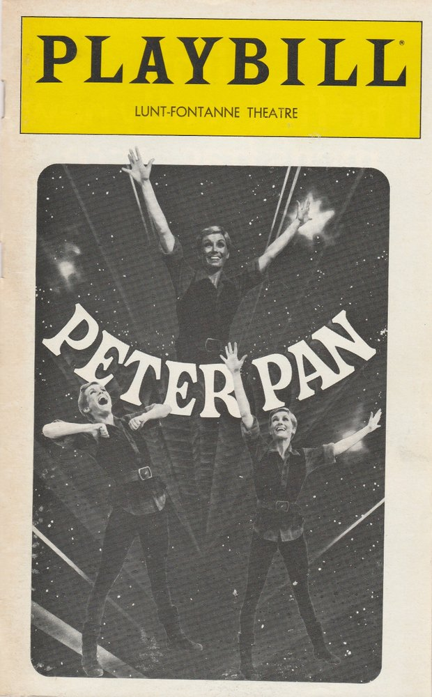 Sandy Duncan as PETER PAN December 1980 Playbill, LUNT-FONTANNE THEATRE