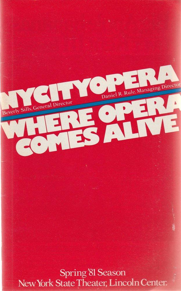 Programmheft Mozart LA CLEMENZA DI TITO The New York City Opera 1981