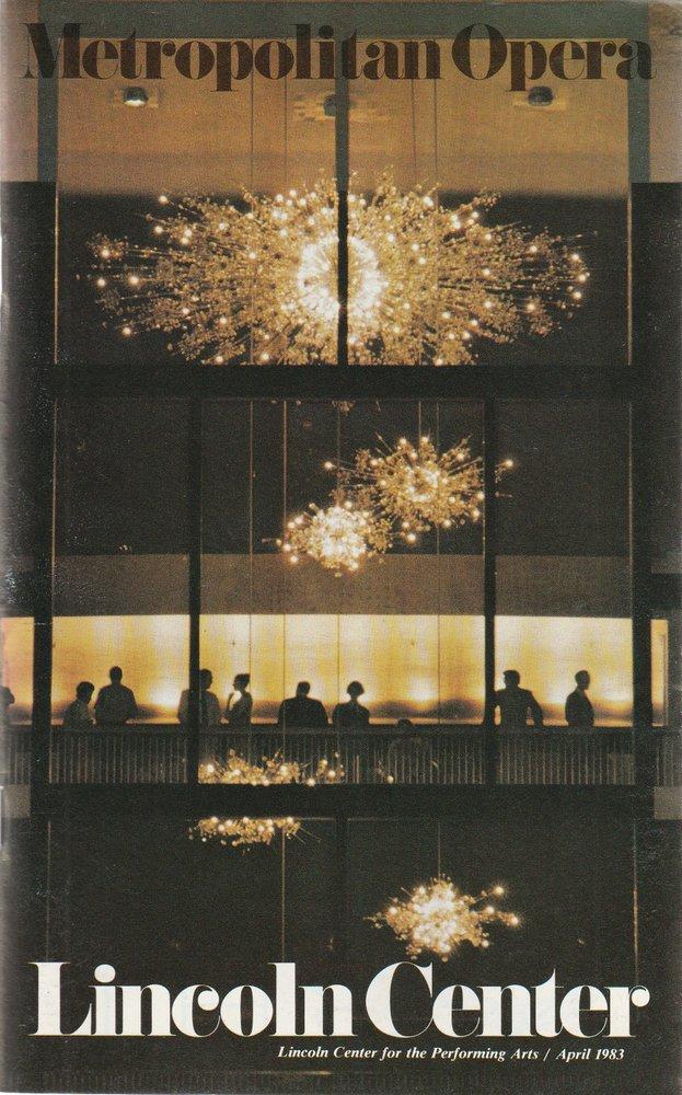 Programmheft Joonas Kokkonen THE LAST TEMPTATIONS Metropolitan Opera 1983