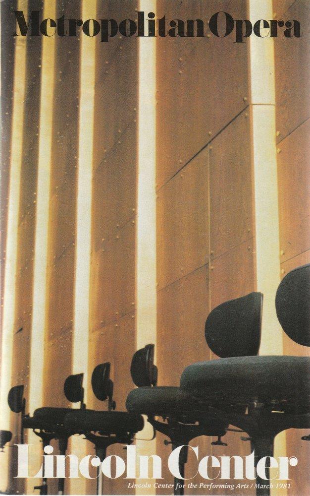 Programmheft Richard Strauss SALOME Metropolitan Opera 1981