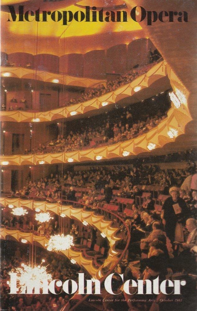Programmheft Richard Wagner SIEGFRIED Metropolitan Opera 1981