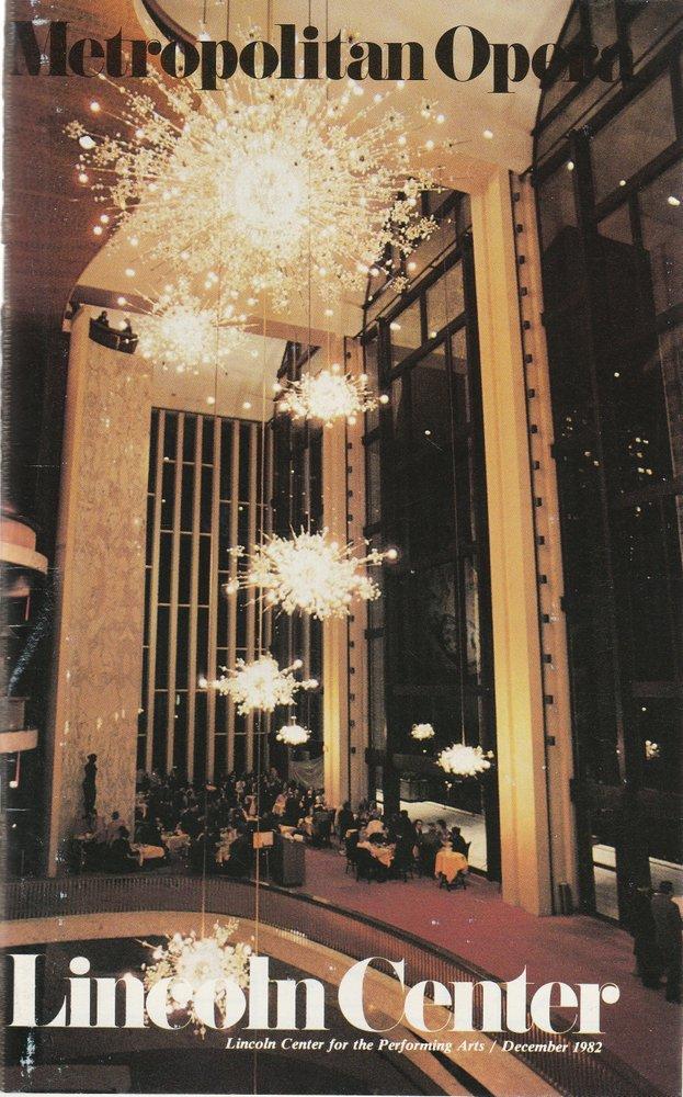 Programmheft Engelbert Humperdinck HANSEL AND GRETEL Metropolitan Opera 1982