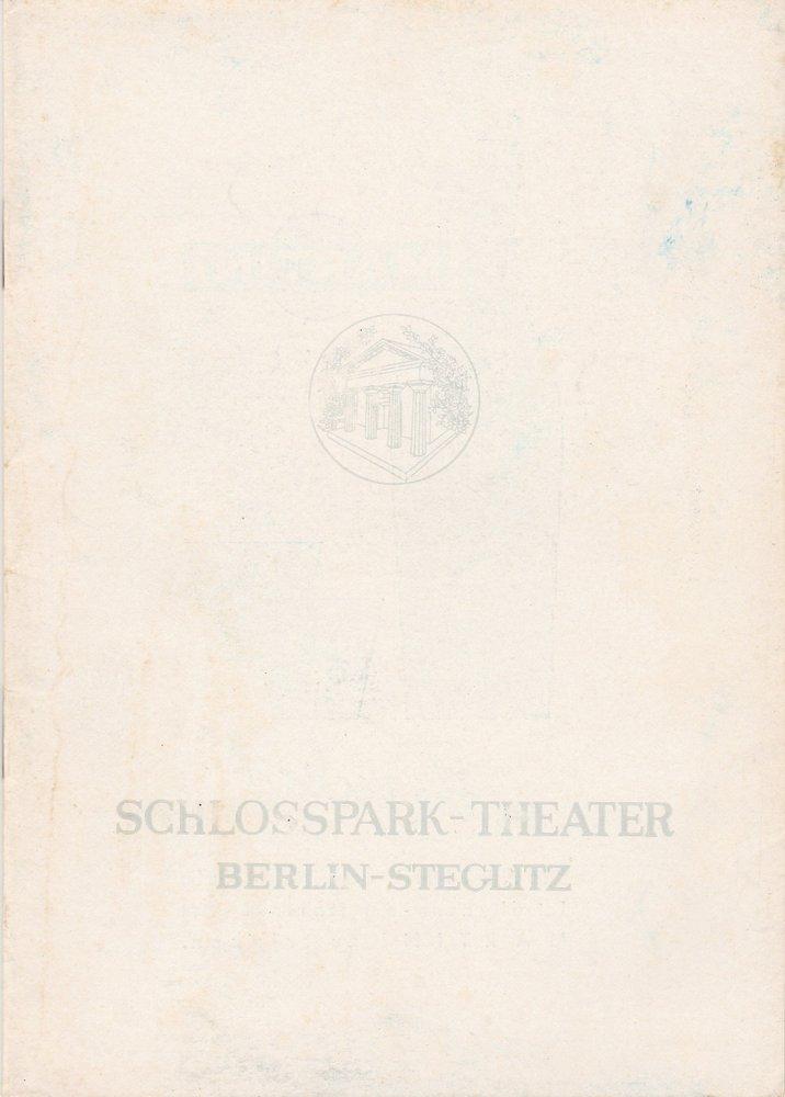 Programmheft Felicien Marceau DER NERZ Schloßpark-Theater 1960