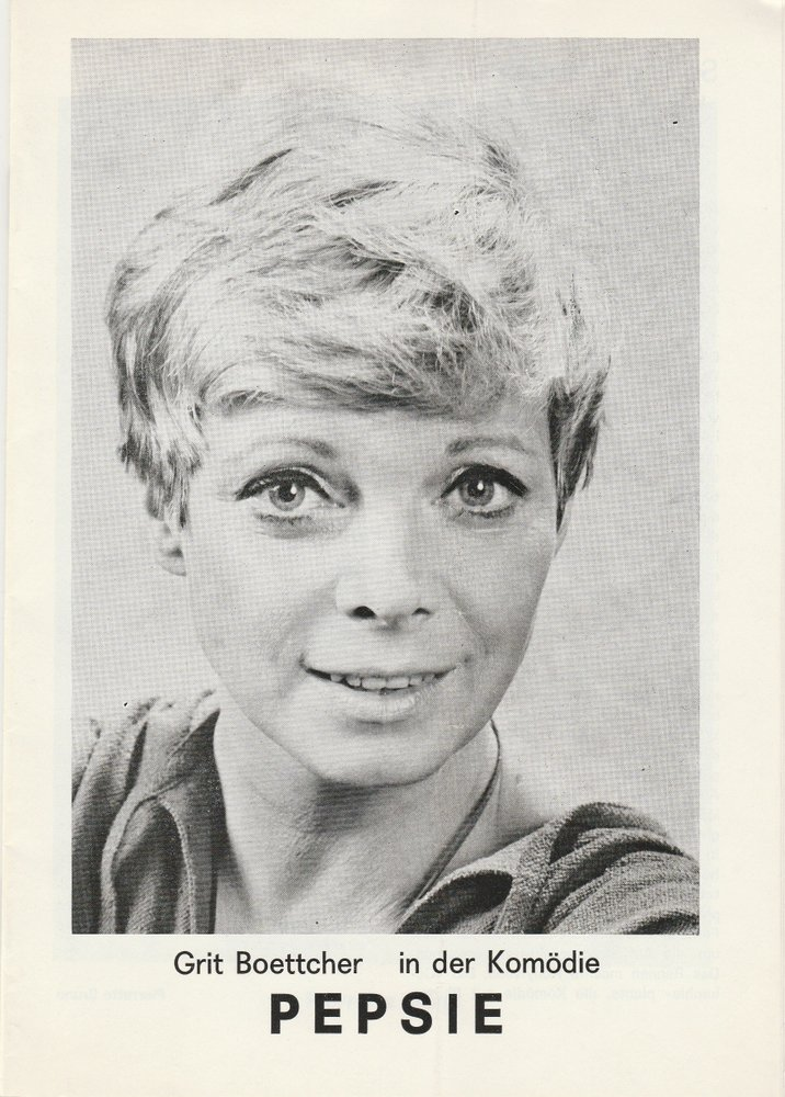 Programmheft Pierrette Bruno PEPSIE Tournee Theater ca. 1979