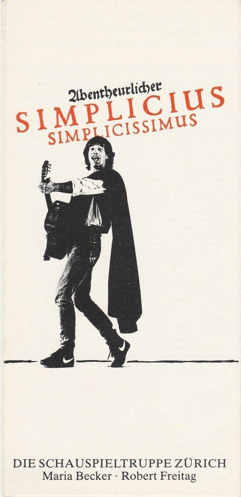 Programmheft ABENTEUERLICHER SIMPLICIUS SIMPLICISSIMUS Schauspieltr. Zürich 1983