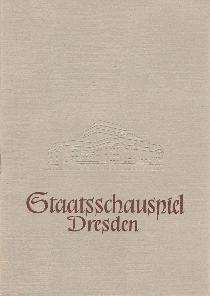 Programmheft Bertolt Brecht LEBEN DES GALILEI Staatsschauspiel Dresden 1957
