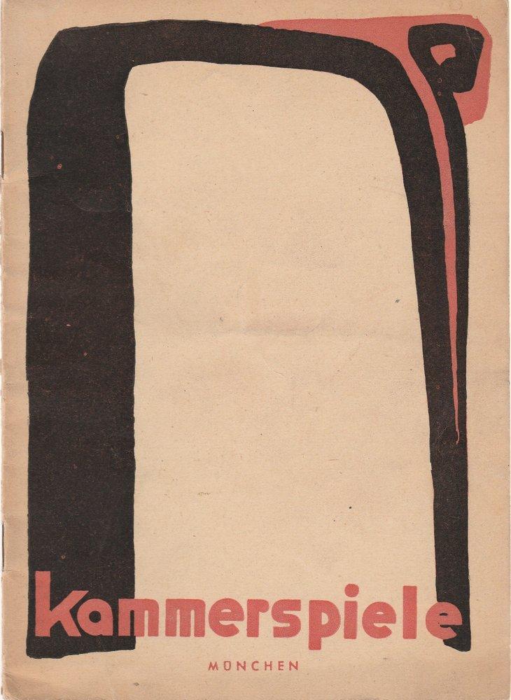 Programmheft Kammerspiele München Spielzeit 1949 / 50 Heft 5